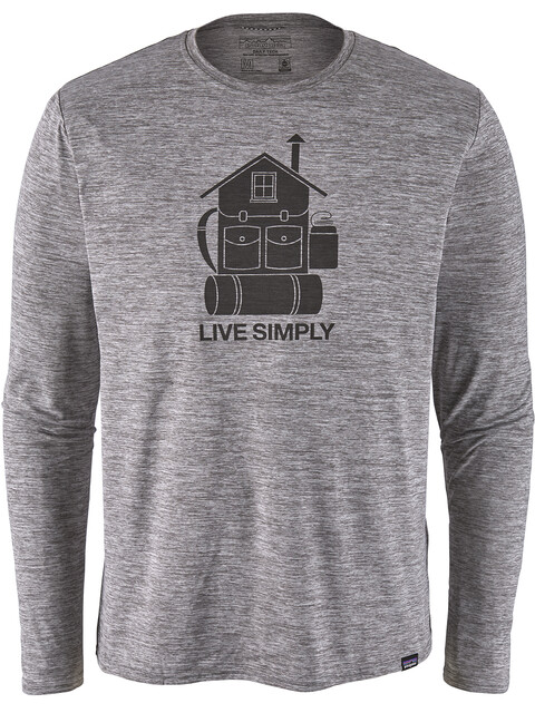 Patagonia M's Cap Cool Daily Graphic LS Shirt Live Simply Home/Feather Grey